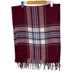 Garage Red Plaid Long Wrap Blanket Scarf Wrap